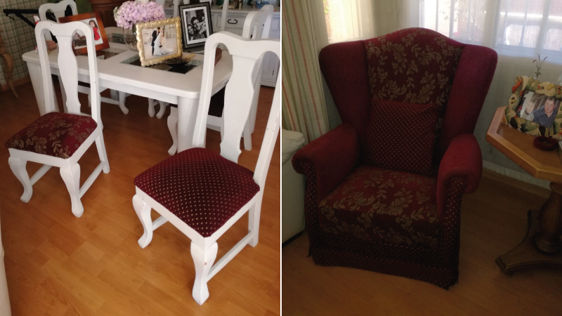 Tapizar sillon orejero silln orejero de madera con - Que cuesta tapizar un sofa ...